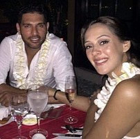 Yuvraj Singh and Hazel Keech Engagement