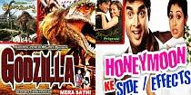 Bollywood Posters of Dubbed Tamil Films