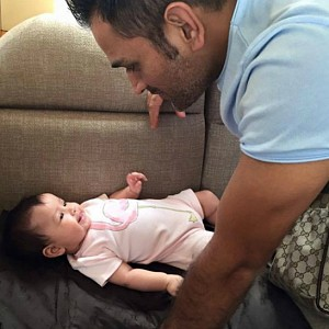 Cutest: CSK Daddy's babies day out!