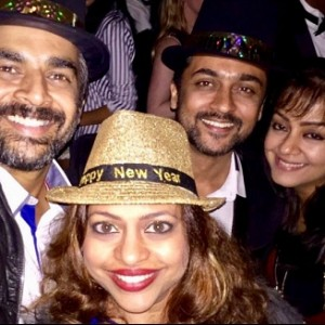 Where did Kollywood celebrate their New Year Eve?