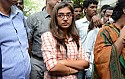 Nazriya at the Comissioner's office