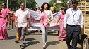 Actress Sunaina takes part in the Pink Walk to spread awareness about breast cancer