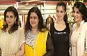 Actresses Lakshmi Rai and Urvashi take part in the shop launch of Rehana Basheer