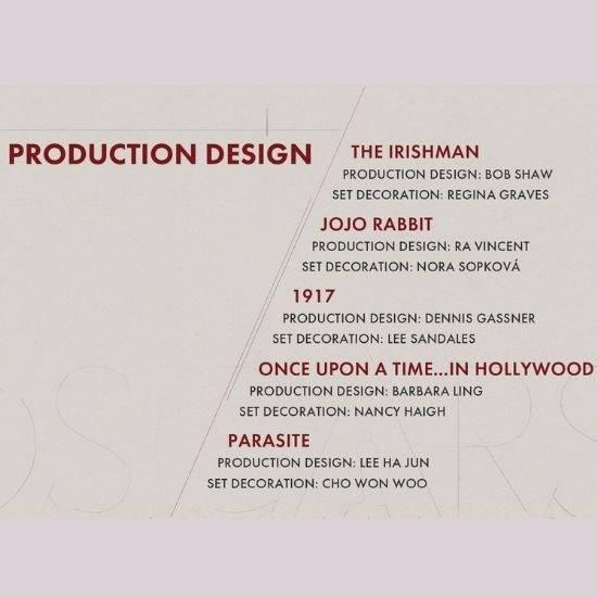 Production Design | Oscars 2020 - Nominees list