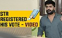 STR & T Rajendar registered his VOTE - Video