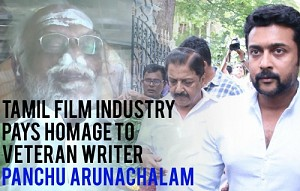 Tamil Film Industry pays homage to Veteran Writer Panchu Arunachalam