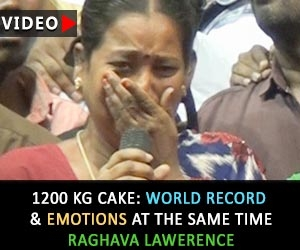 1200 Kg Cake: World Record & Emotions at the same time   Raghava Lawerence