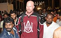 Wrestler Nathan Jones at Chennai Airport