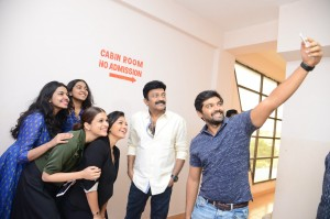 PSV Garuda Vega Movie Team Visit To Bramaramba Theater