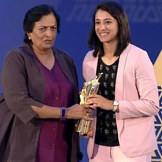 Best International Cricketer - Women – Smriti Mandhana (2017 - 2018 season)