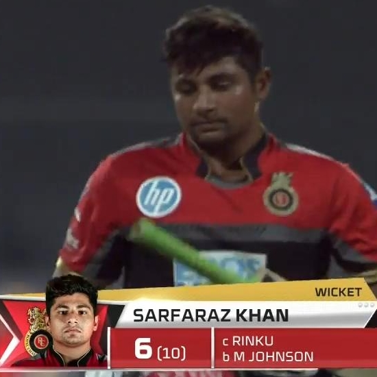 RCB - Sarfaraz Khan
