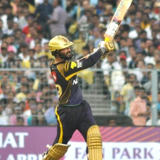 6. Dinesh Karthik - 102 meter