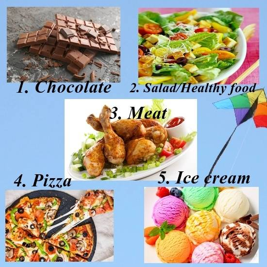 Choose your favourite food