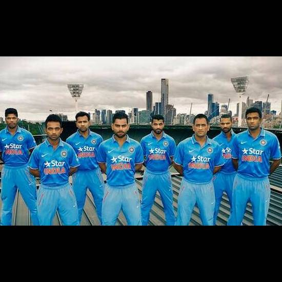 20. Indian Cricket Team Jersey 2014