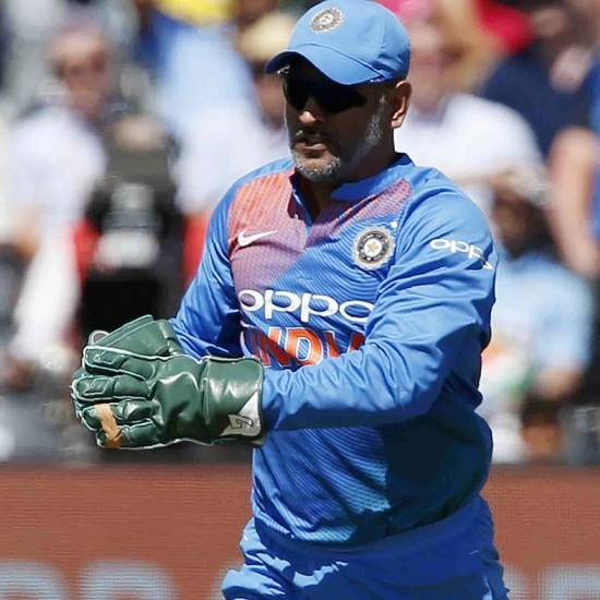 MS Dhoni became the first wicketkeeper to effect six dismissals (five catches, one run out) in a T20I match.