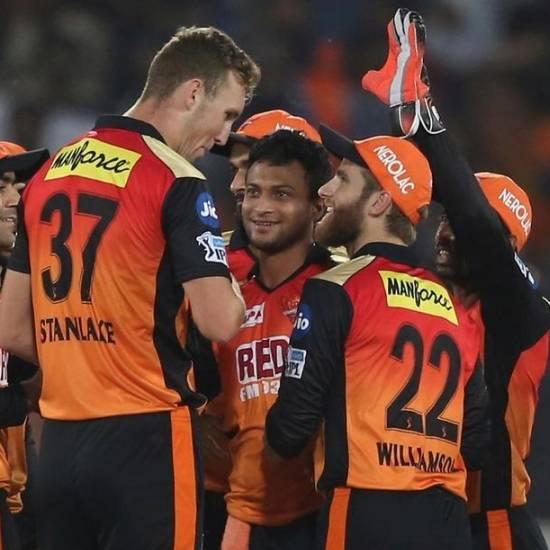 Sunrisers Hyderabad - 54 million USD