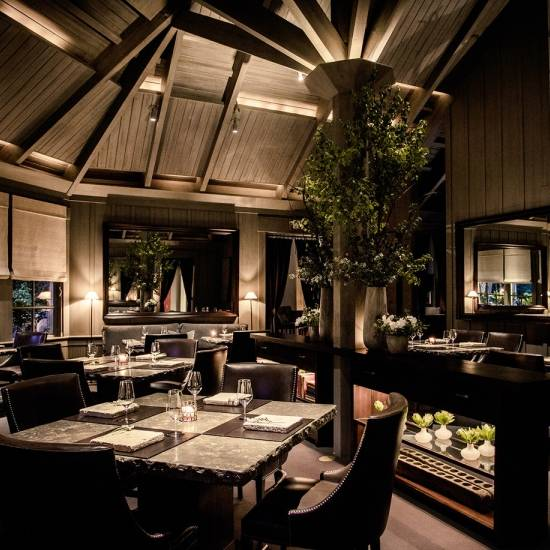 The restaurant in meadowood, California, USA.