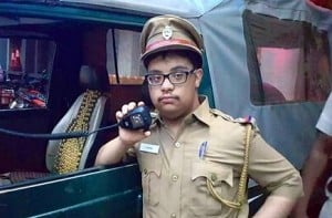 19-year-old with down syndrome becomes police for a day in Chennai