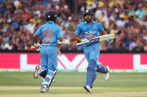 Dhawan-Rohit first pair to score three century partnerships in CT