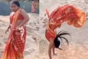 Video: Woman Performs Series of Backflips in A Saree; Leaves Netizens Amazed| WATCH
