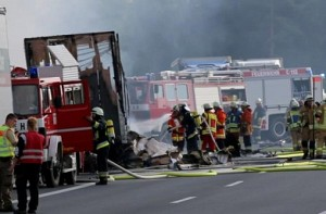 German bus accident: Many feared dead