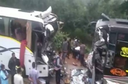 2 dead after buses collided in Andhra Pradesh\'s Chittoor