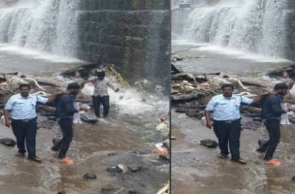 2 men fall 20 feet into water while taking selfie; Photos Viral