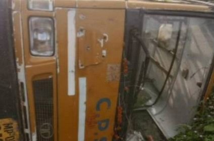 5 Children Injured After School Bus Over Turned in Madhya Pradesh
