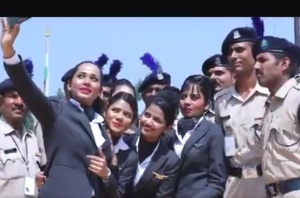 Army men celebrate Raksha Bandhan with Go Air