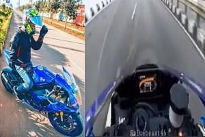 Unbelievable Viral Video: Indian Biker Drives at 300 km/h on Highway! Watch What Happened Next