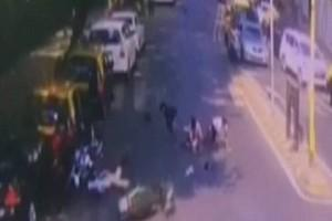 CCTV : 3 Men On 1 Bike Rams Into Traffic Police When Asked To Stop!