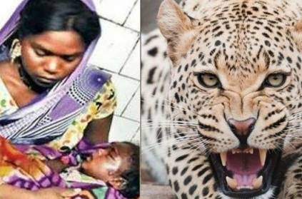 Brave mom fights leopard with bare hands after it attacks baby