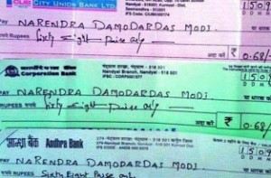 Farmer's send 68 paise cheque for PM's birthday
