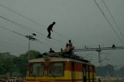 Man Does Acrobatics On Overhead Wire, Trains Delayed