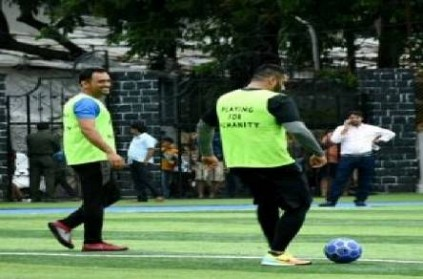 MS Dhoni plays football before joining Army duties: Watch Video