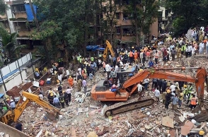 Mumbai building collapse kills 17, Shiv Sena leader arrested