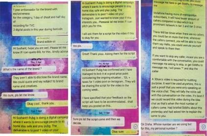 screenshot of chat between sushant and disha debunks depression theory