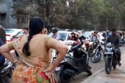 Senior citizen scolds bikers for riding on pavements in pune
