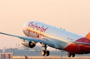 SpiceJet flight skids off runway, guiding lights damaged