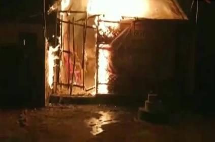 Video of BJP office in asansol westbengal set on fire