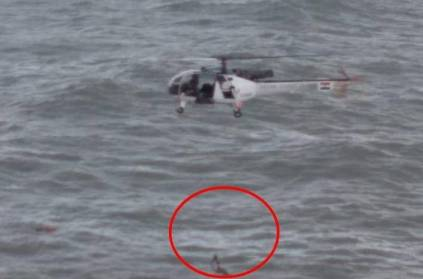 Watch: Indian Coast Guard rescues army officer from drowning on Goa be
