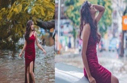Woman Pose in Flooded Streets, leaves everyone shocked: Photo