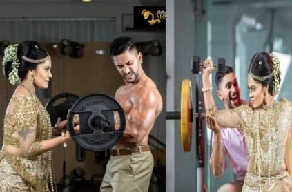 SriLanka Couple\'s Wedding Photo shoot from Gym is Alluring!