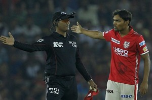 KXIP bowler fined for snatching cap from umpire