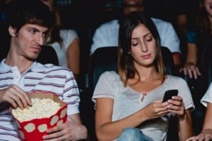 Man sues woman for texting during a movie