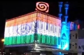 Rajasthan mosque lighted in tricolour for Eid al-Fitr
