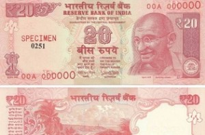 RBI to issue new Rs 20 notes