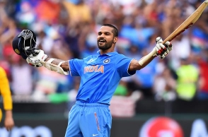 Shikhar Dhawan fastest to score 1000 runs in ICC tournaments