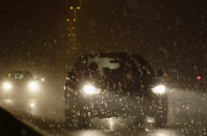 Smart headlights can help drivers see through rain, snow