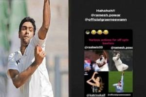 "Photo Viral : Ashwin Shares Image of Various ""Actions of Spin Bowlers"", Actress Katrina Kaif 'Action' is also Part of Collage!"